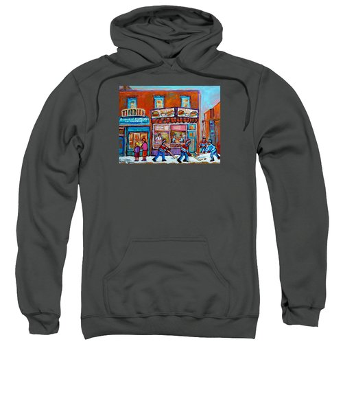 Decarie Hot Dog Restaurant Ville St. Laurent Montreal  Sweatshirt