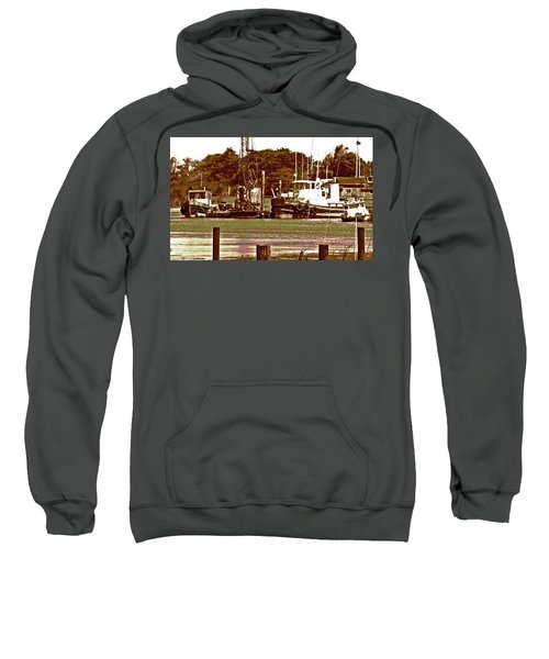 Delta Tug Boats At Work Sweatshirt