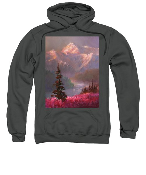 Denali Summer - Alaskan Mountains In Summer Sweatshirt