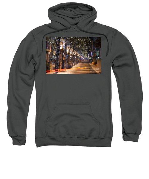 Denver's 16th Street Mall At Christmas Sweatshirt