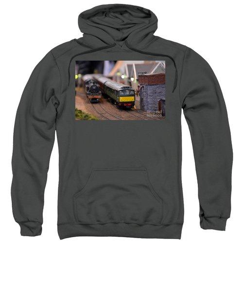 Diesel Electric Model Train Railway Engine Sweatshirt