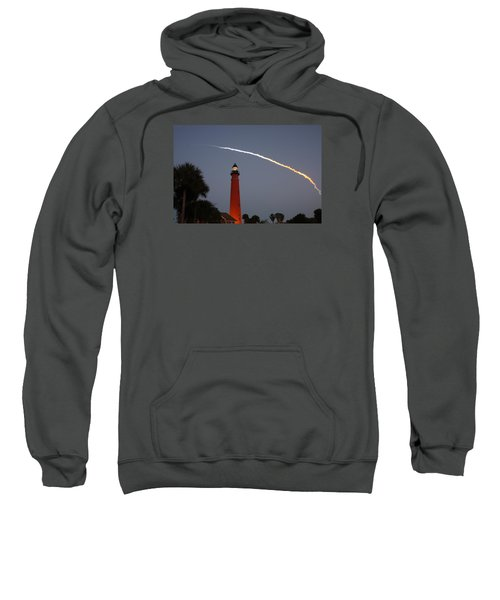 Discovery Booster Separation Over Ponce Inlet Lighthouse Sweatshirt