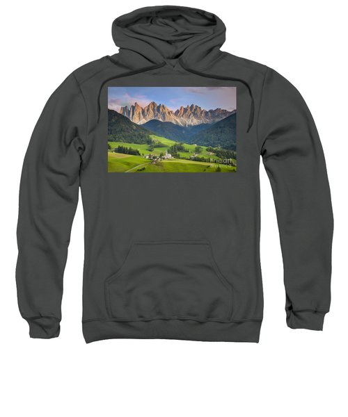 Dolomites From Val Di Funes Sweatshirt
