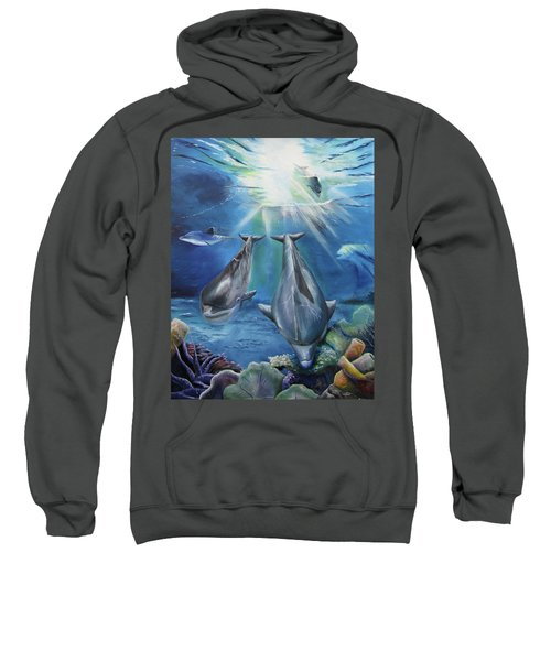 Dolphins Playing Sweatshirt