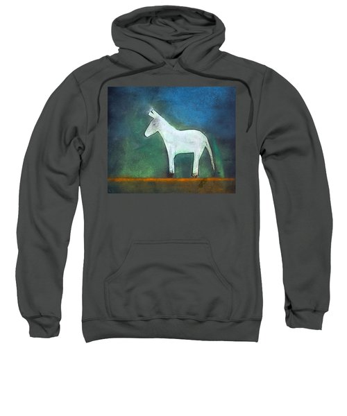 Donkey, 2011 Oil On Canvas Sweatshirt by Roya Salari