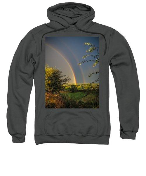 Double Rainbow Over County Clare Sweatshirt