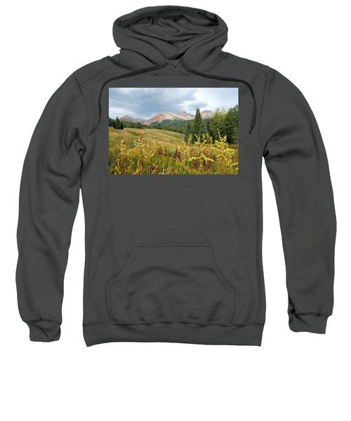 Early Autumn In The San Juans -  Mount Wilson And Wilson Peak Sweatshirt