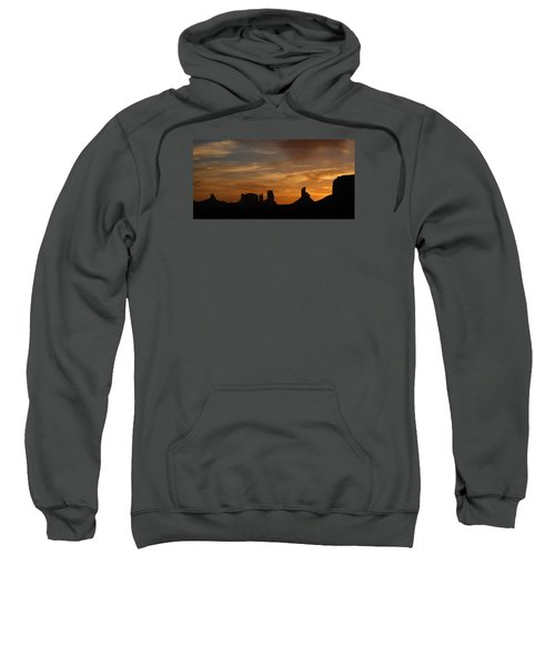 Early Sunrise Over Monument Valley Sweatshirt