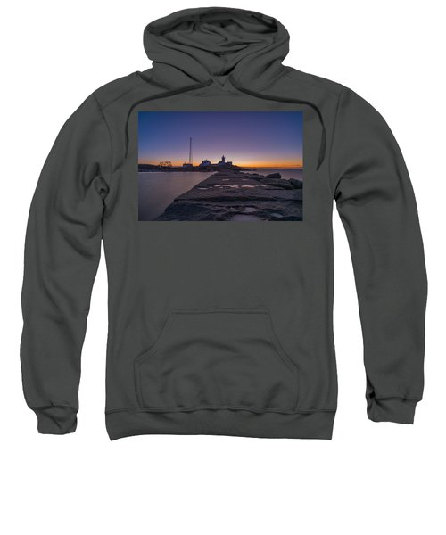 Eastern Point Lighthouse Just Before Sunrise Gloucester Ma Sweatshirt