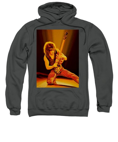 Eddie Van Halen Painting Sweatshirt by Paul Meijering