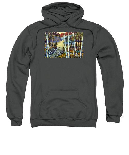 Edge Of The Lake By Prankearts Sweatshirt