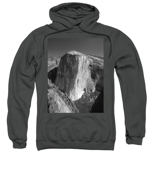 106663-el Capitan From Higher Cathedral Spire, Bw Sweatshirt