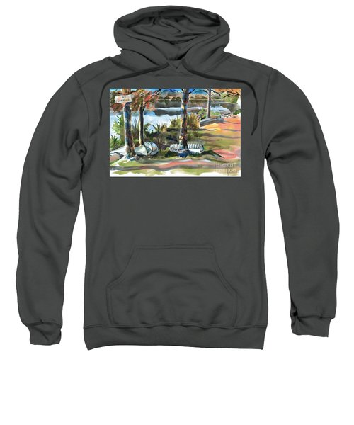 Evening Shadows At Shepherd Mountain Lake  No W101 Sweatshirt