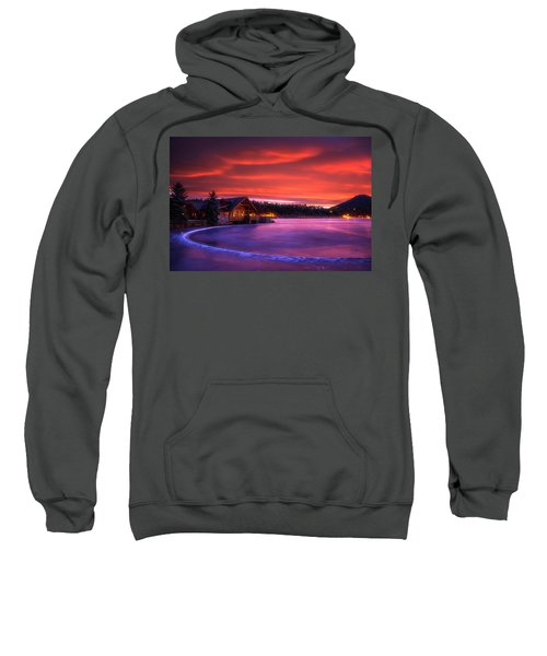 Evergreen Lake Sunrise Sweatshirt
