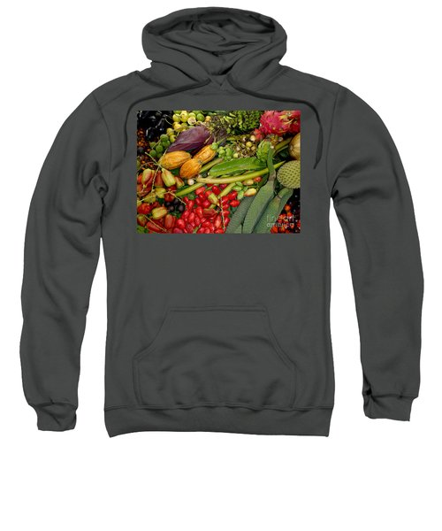 Exotic Fruits Sweatshirt by Carey Chen