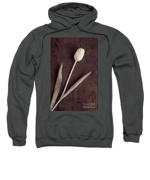 Faded Memories Single White Tulip Sweatshirt