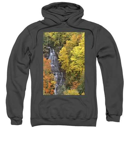 Fall Color Surrounds Chapel Falls On The Michigan Upper Peninsula Sweatshirt