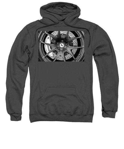 Ferrari Wheel Emblem - Brake Emblem -0430bw Sweatshirt