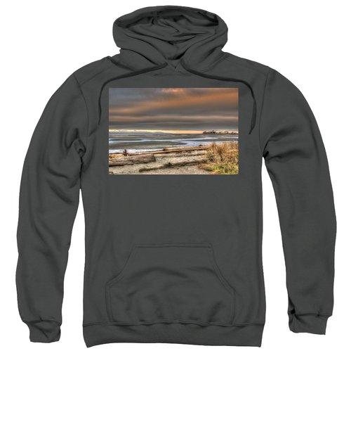 Fiery Sky Over The Salish Sea Sweatshirt