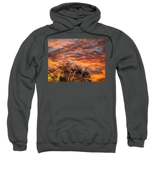 Sweatshirt featuring the photograph Fiery Sunrise Over County Clare by James Truett