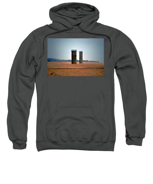 Fct5 And Fct6 Fire Control Towers On The Beach Sweatshirt