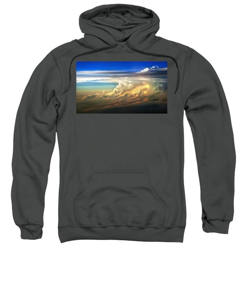 Fire In The Sky From 35000 Feet Sweatshirt
