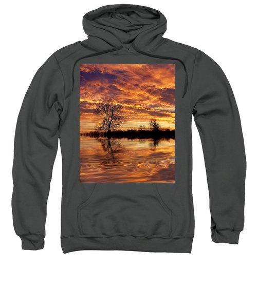 Fire Painters In The Sky Sweatshirt by Bill Pevlor