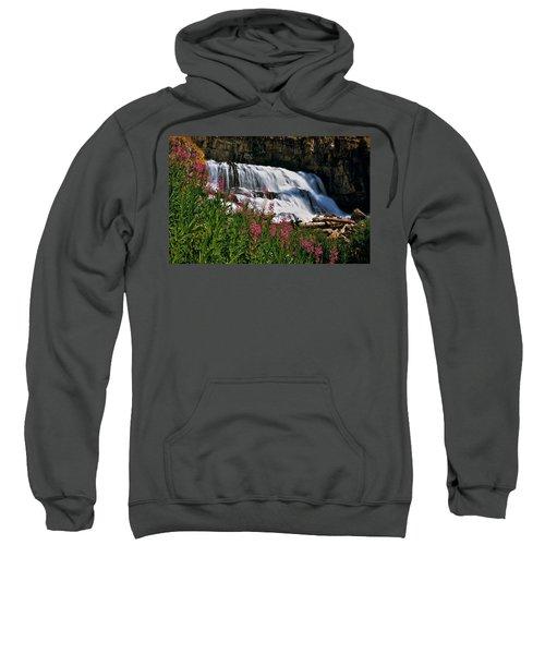 Fireweed Blooms Along The Banks Of Granite Creek Wyoming Sweatshirt