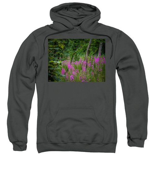 Sweatshirt featuring the photograph Fireweed In The Irish Countryside by James Truett