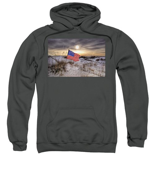 Flag On The Beach Sweatshirt