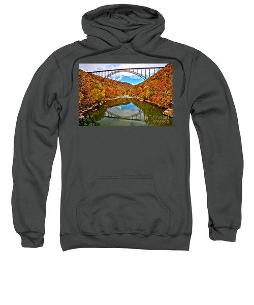 Flaming Fall Foliage At New River Gorge Sweatshirt