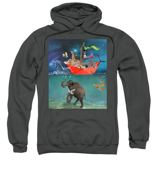 Floating Zoo Sweatshirt by Juli Scalzi
