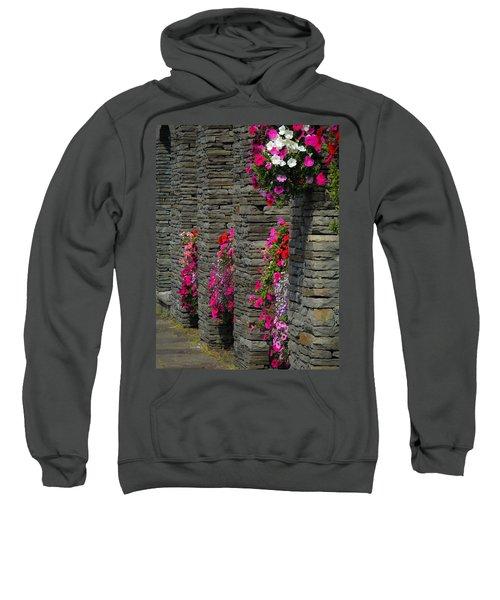 Flowers At Liscannor Rock Shop Sweatshirt
