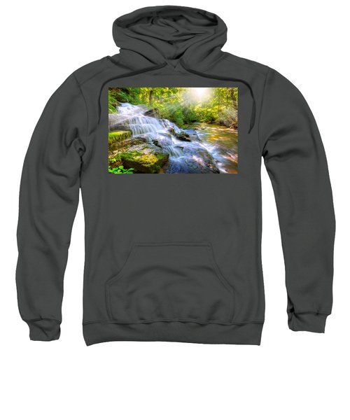 Forest Stream And Waterfall Sweatshirt