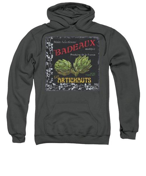 French Veggie Labels 1 Sweatshirt by Debbie DeWitt