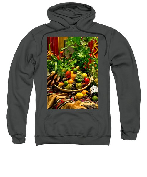 Sweatshirt featuring the photograph Fruit And Wine by Mae Wertz