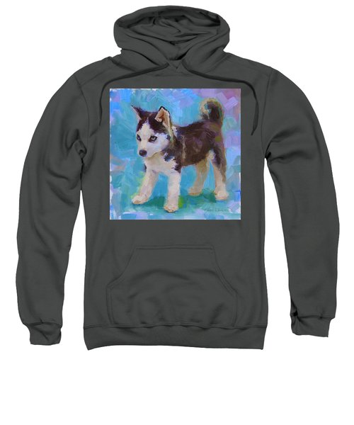 Alaskan Husky Sled Dog Puppy Sweatshirt