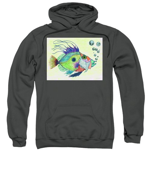 Funky Fish Art - By Sharon Cummings Sweatshirt