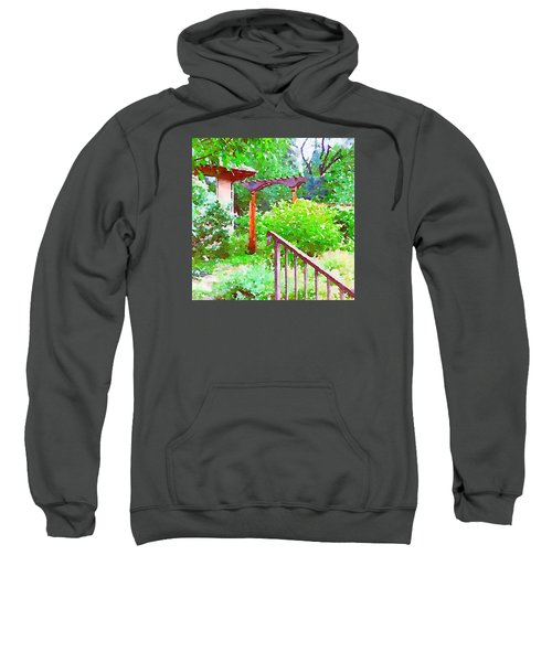 Garden Path With Arbor Sweatshirt