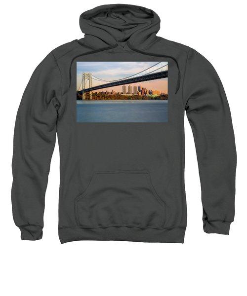 George Washington Bridge In Autumn Sweatshirt