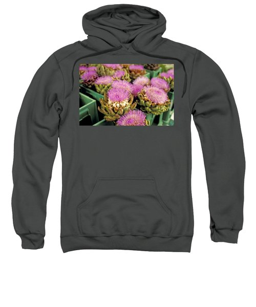 Germany Aachen Munsterplatz Artichoke Flowers Sweatshirt by Anonymous