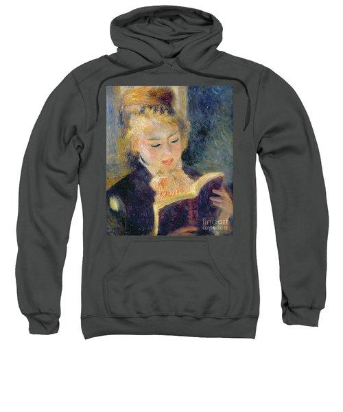 Girl Reading Sweatshirt