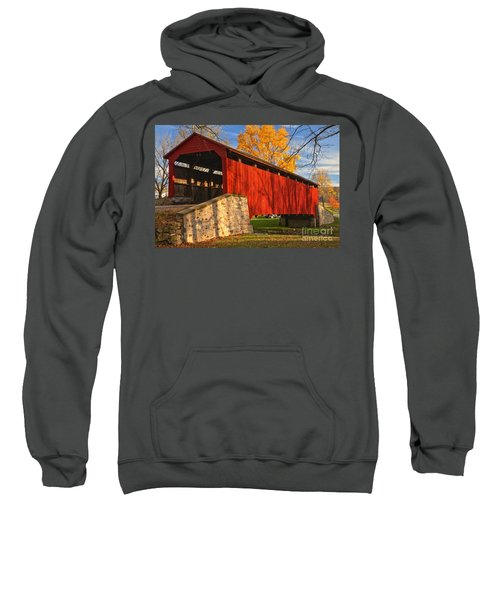 Gold Above The Poole Forge Covered Bridge Sweatshirt