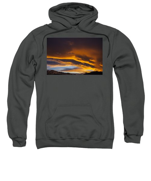 Golden Clouds Over Sierras Sweatshirt