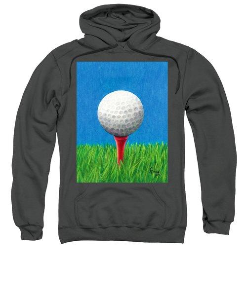 Golf Ball And Tee Sweatshirt