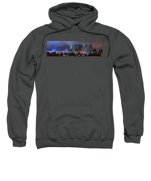 Gotham City - Los Angeles Skyline Downtown At Night Sweatshirt by Jon Holiday