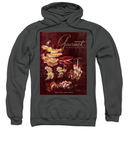 Gourmet Cover Featuring Wild Mushrooms Sweatshirt