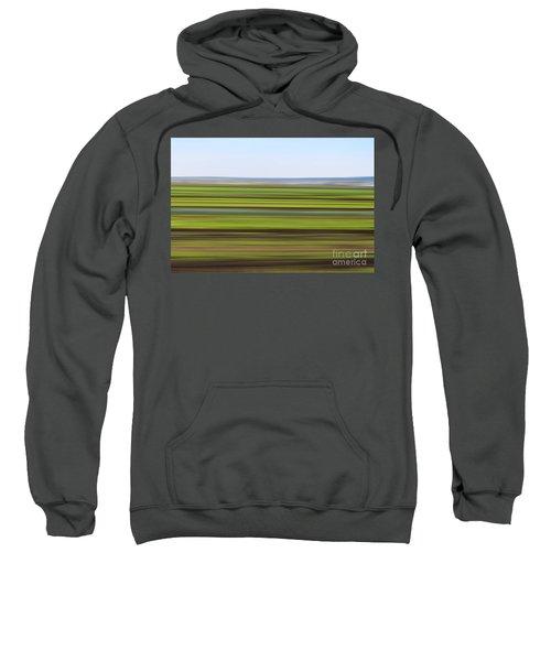 Green Field Abstract Sweatshirt