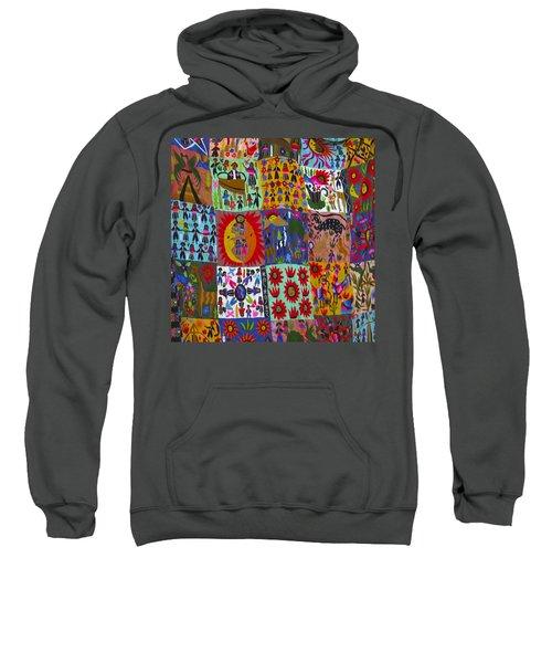 Guatemala Folk Art Quilt Sweatshirt