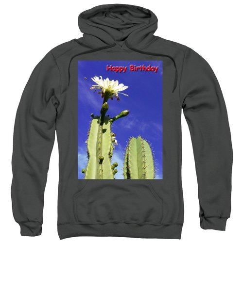 Happy Birthday Card And Print 18 Sweatshirt